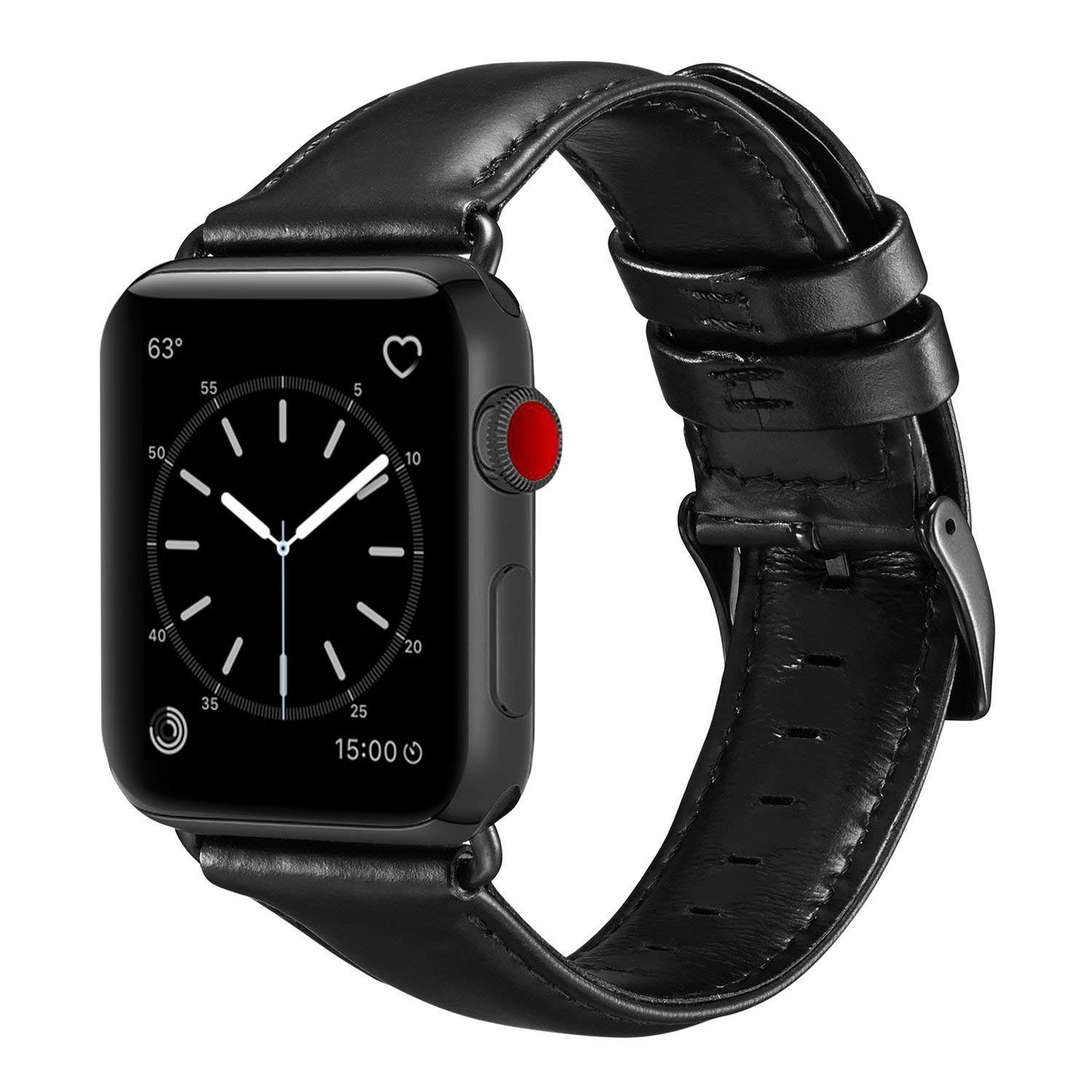 Dây da cho đồng hồ Apple Watch Band 42mm 44mm Sport and