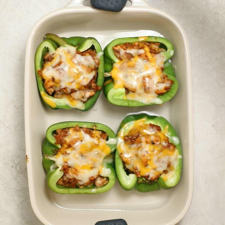 Chicken Fajita Stuffed Peppers Recipe In 2020 Stuffed Peppers Healthy Food Recipies Healthy Recipes
