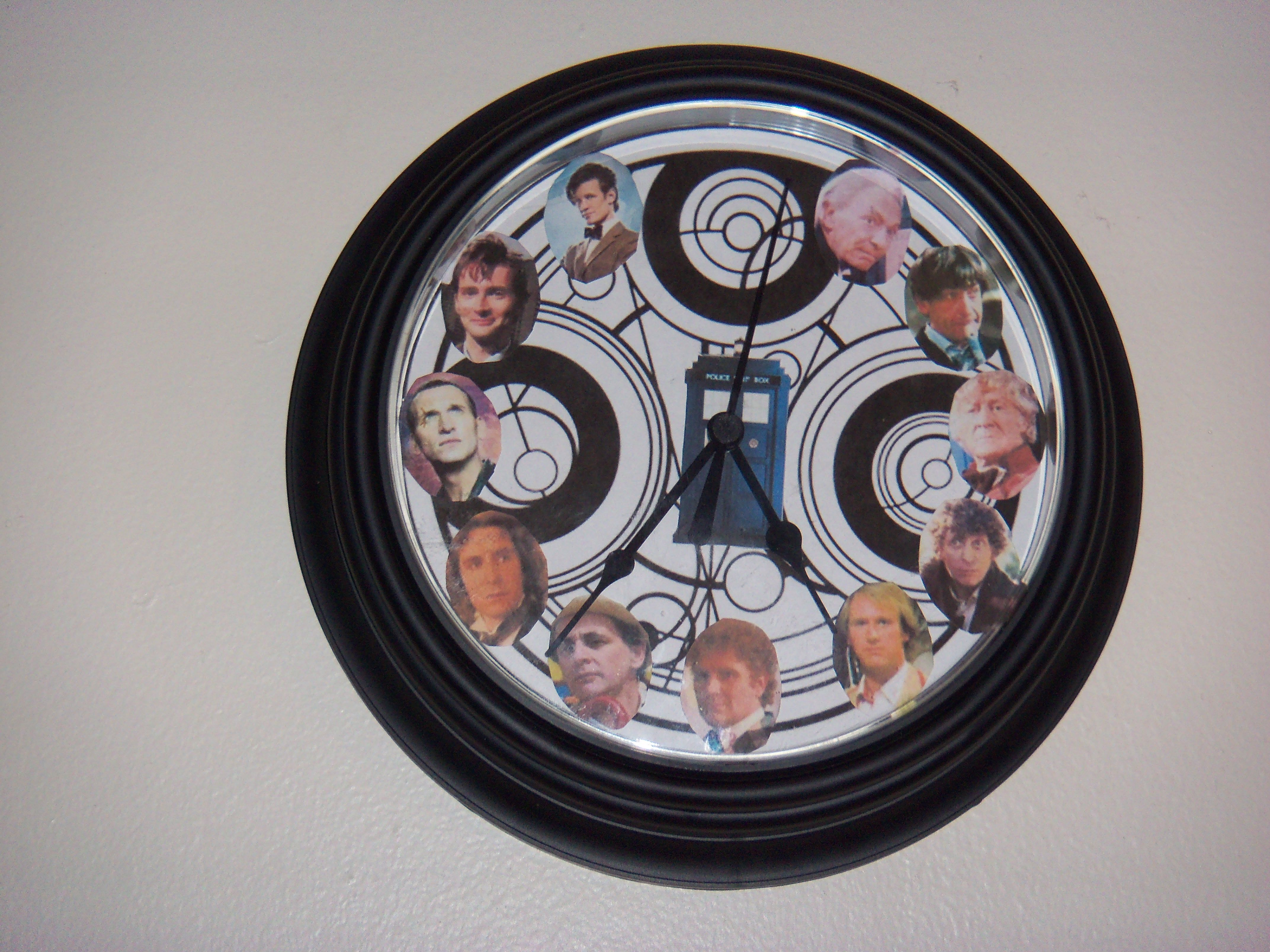 Doctor Who Clock Time Lord Symbol And All 11 Doctors Doctor Who