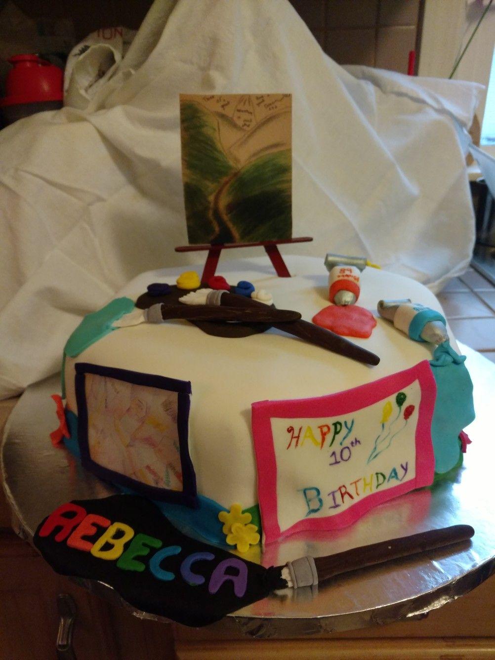 Artists Birthday Cake Cakes Done By Ann Pinterest Birthday