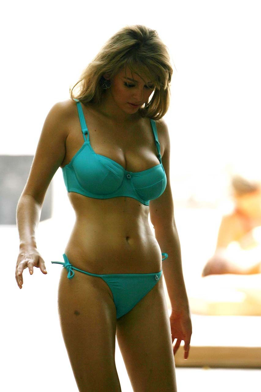 Keeley hazell blue bikini