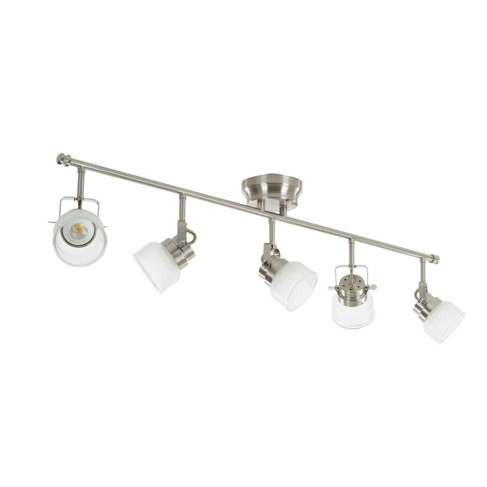 Light Brushed Nickel Integrated Led