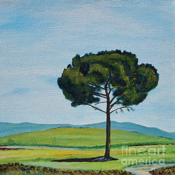 NEW! One of three new Tuscany paintings. NEU! Eines von drei neuen Toskanabildern. :-)