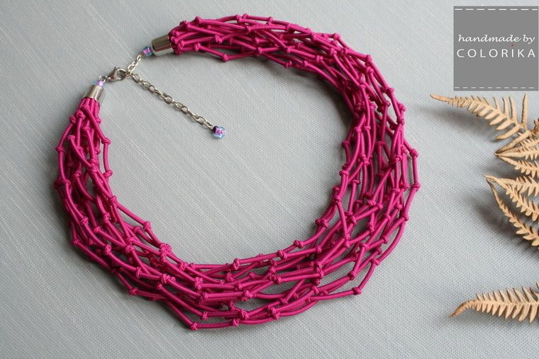 Textile necklace  from  COLORIKA by DaWanda.com