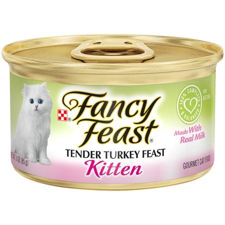 Fancy Feast Pate Wet Kitten Food Tender Turkey Feast 24 3 Oz Can Kitten Food Wet Cat Food Cat Food