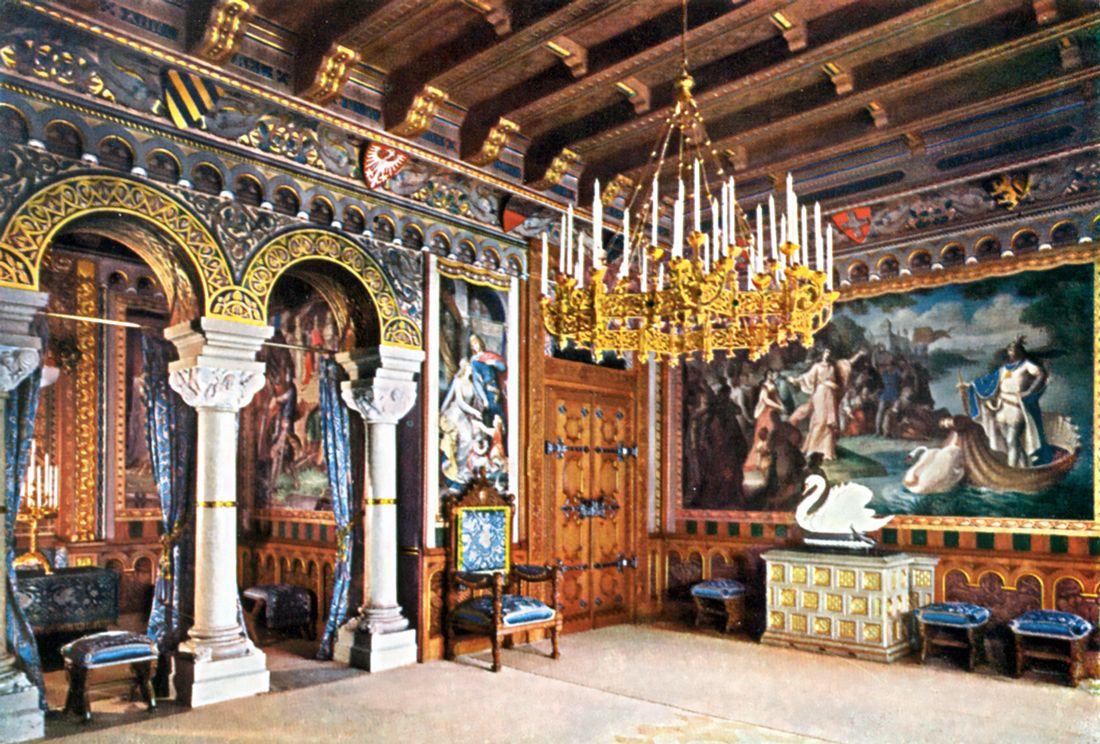 Schloß Neuschwanstein, Wohnzimmer (Drawing Room