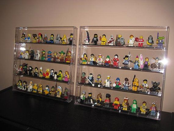 New Clear Minifigure Lego Wall Display Case Holds 48 Email Me For 10 Off Coupon Wall
