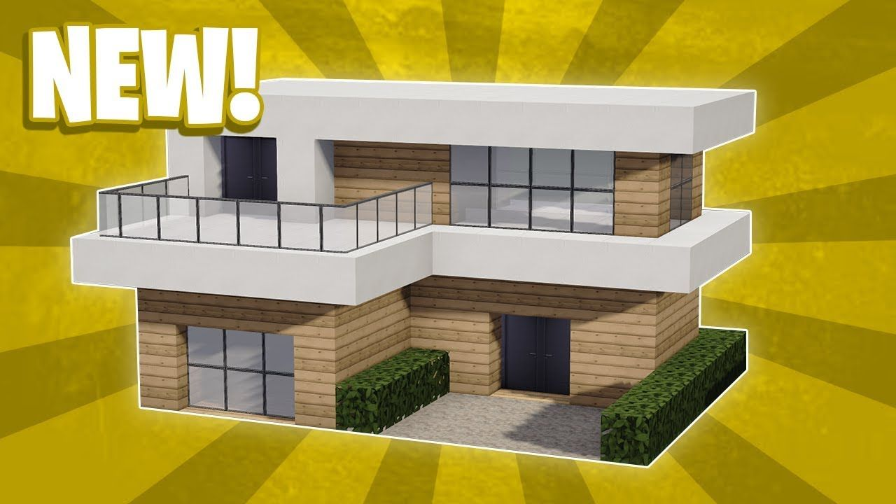 Minecraft How To Build a Small Modern House Tutorial 12