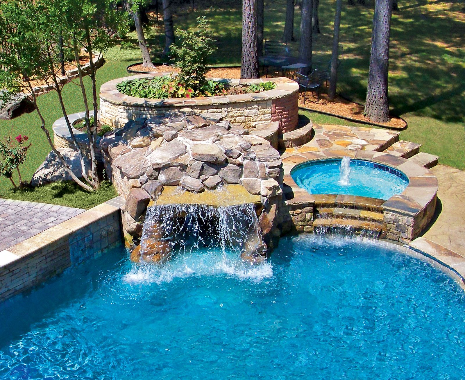 Swimming Pool Rock Waterfall Pictures Blue Haven Rock Waterfall Indoor Waterfall Pools Backyard Inground