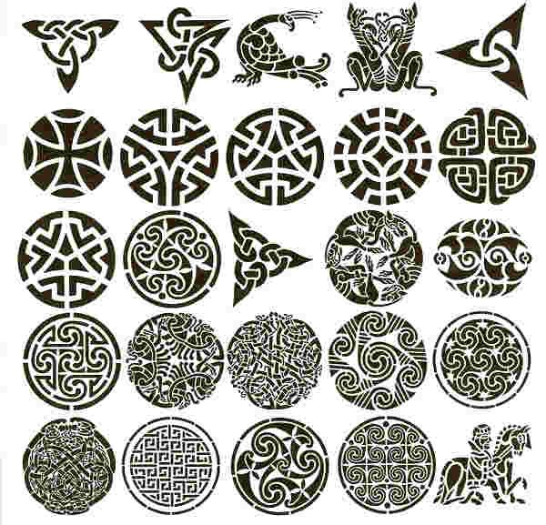 penguin in celtic knots | damask stencil wall stenciling ...