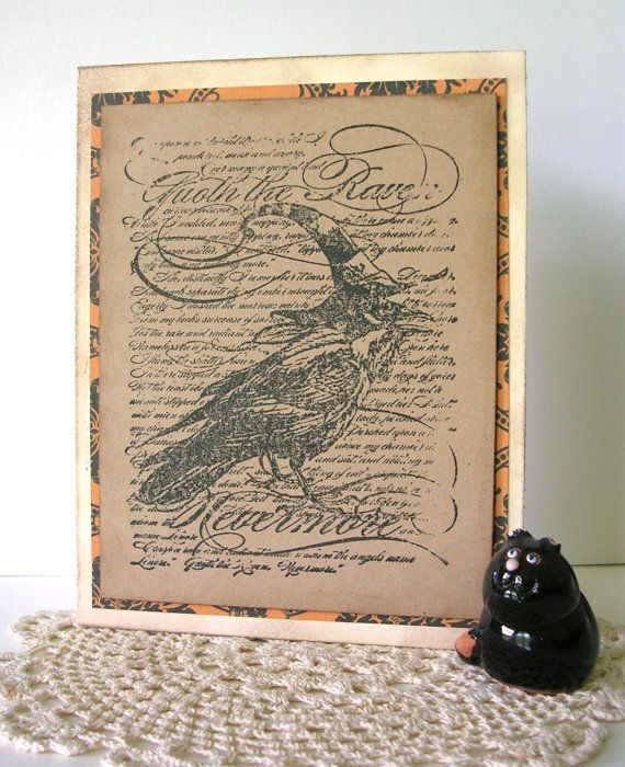 Halloween Card  The Raven by PaperImaginations on Etsy, $4.75