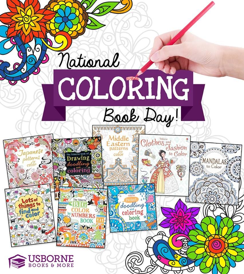 National Coloring Book Day August 2 Usborne Books Coloring Books Usborne