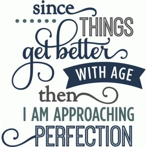 Silhouette Design Store: better with age perfection – layered phrase