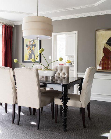 Dining Room   Gray Walls Line A Dining Room #diningroom #interiordesign
