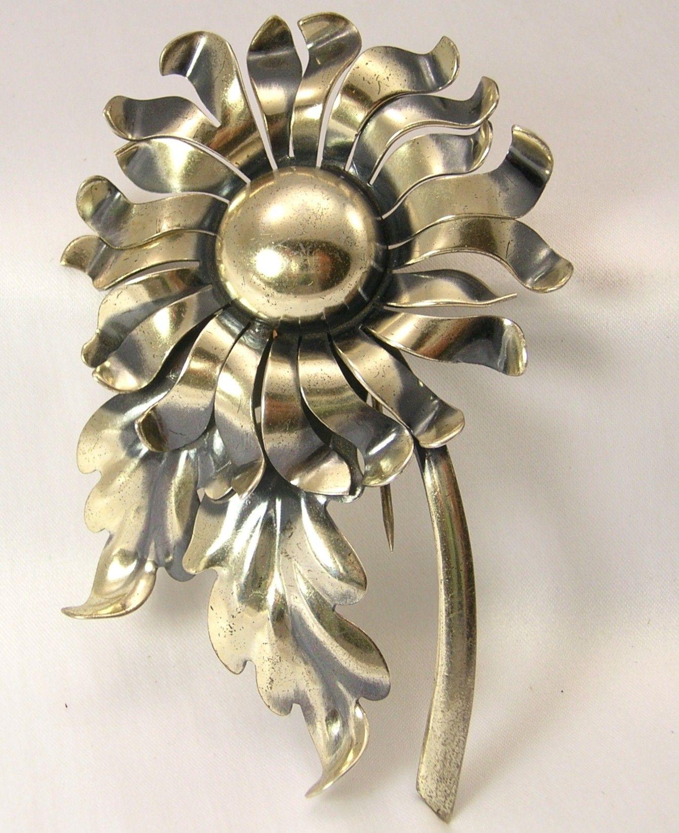 Vintage Napier Figural Fur Clip Pin1940'S.