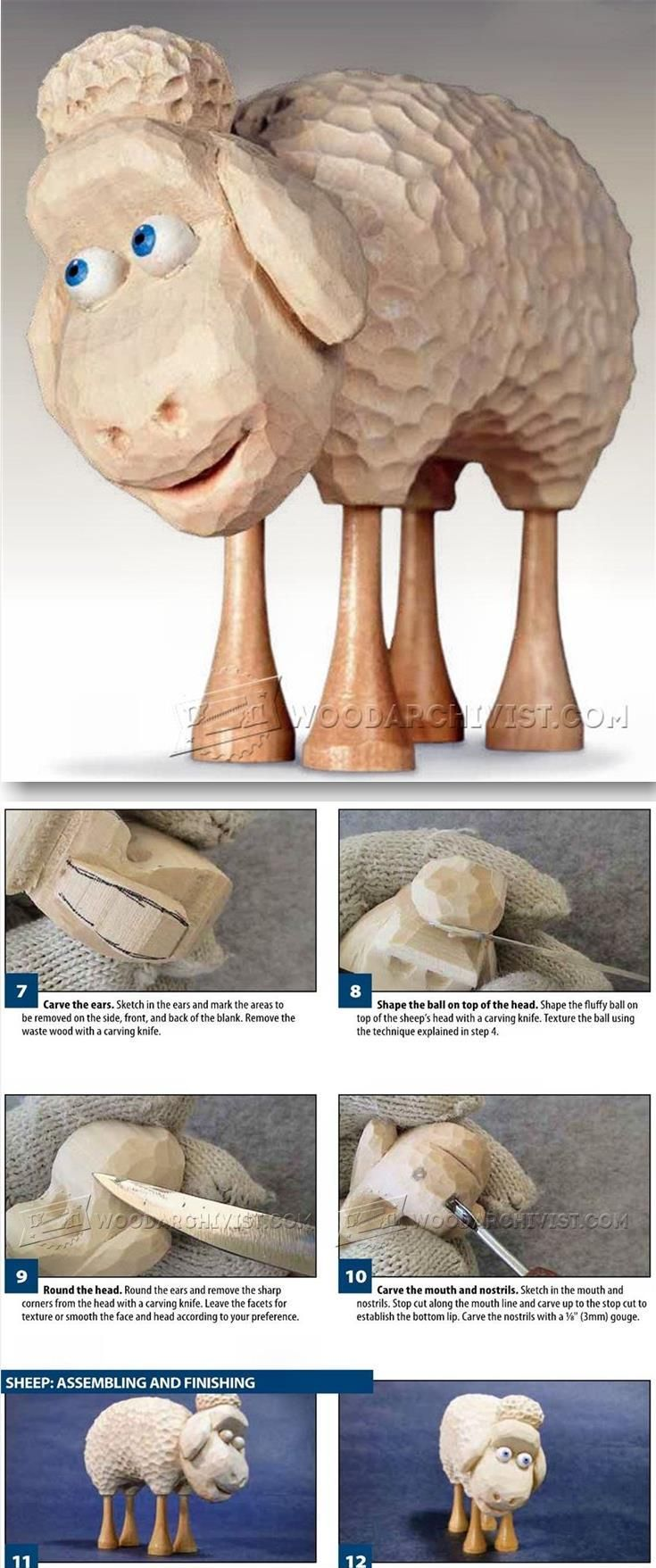 Sheep carving wood carving patterns and techniques woodarchivist