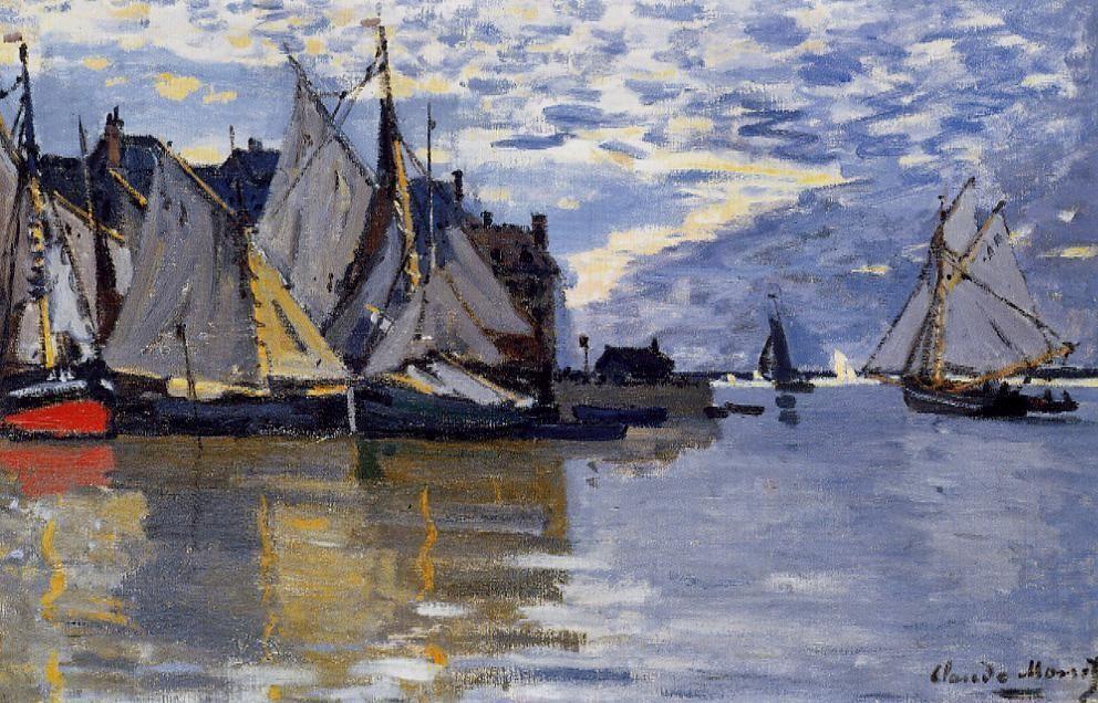 Claude Monet (1840-1926) - Sailboats - 1864-1866 - Private collection