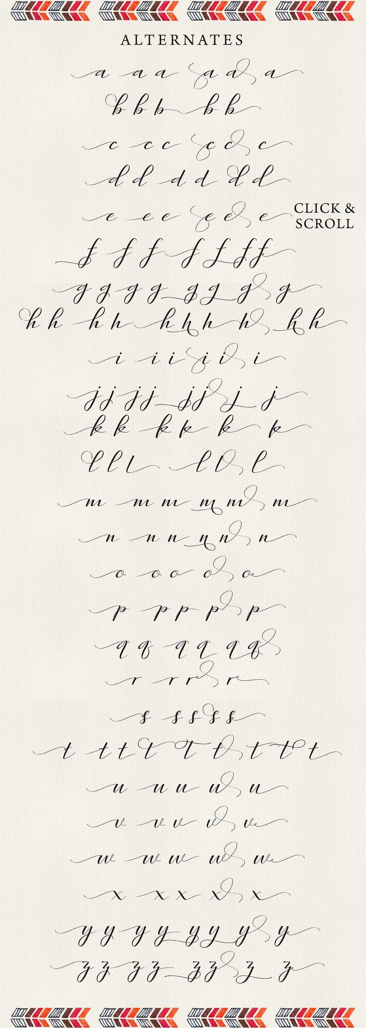 Rambies – Calligraphie manuscrite de Get Studio sur le marché créatif