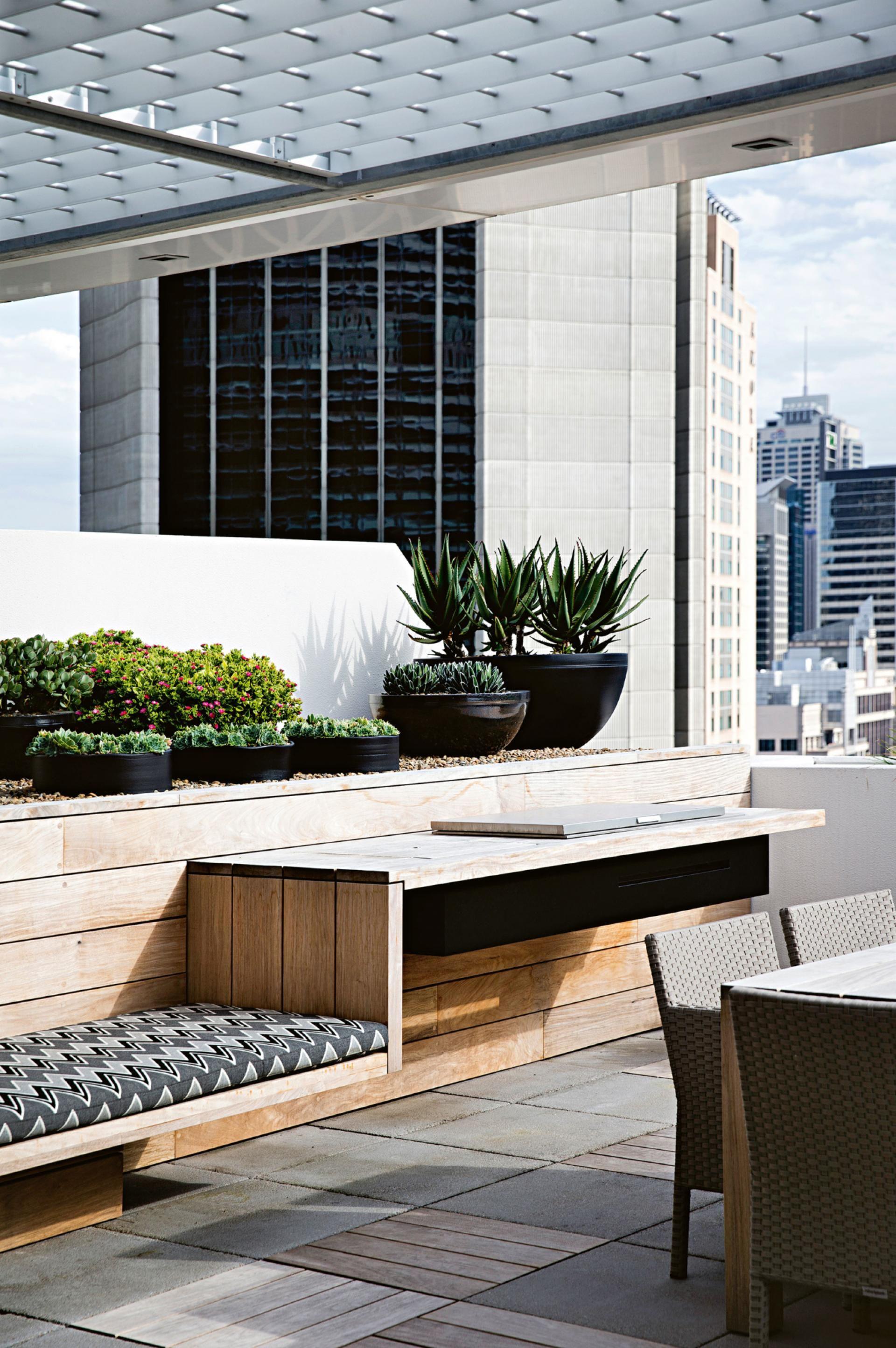Banca para jardín o terraza / Roof-top terrace built-in bench   New ...