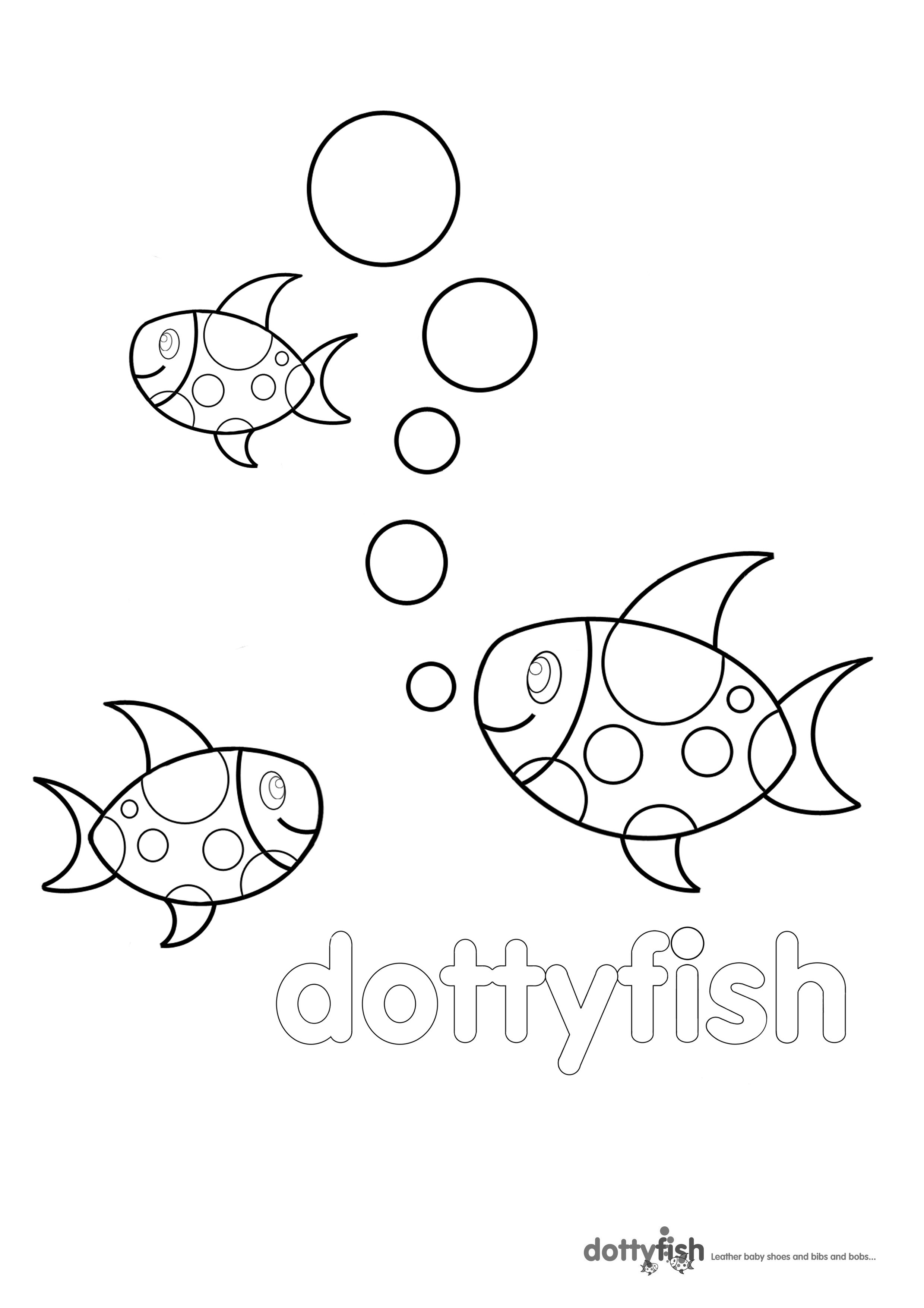 Dotty Fish Colouring Pages For Children