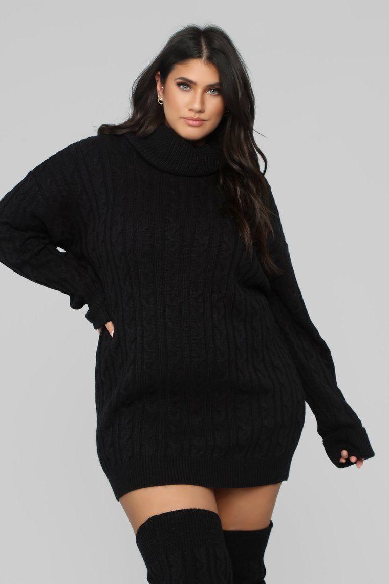 Cammie Leg Warmer Sweater Dress Set Black Plus Size Sweater Dress Sweater Dress Cable Knit Dress [ 1140 x 760 Pixel ]