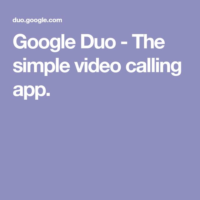 Google Duo - The simple video calling app  | jayaram