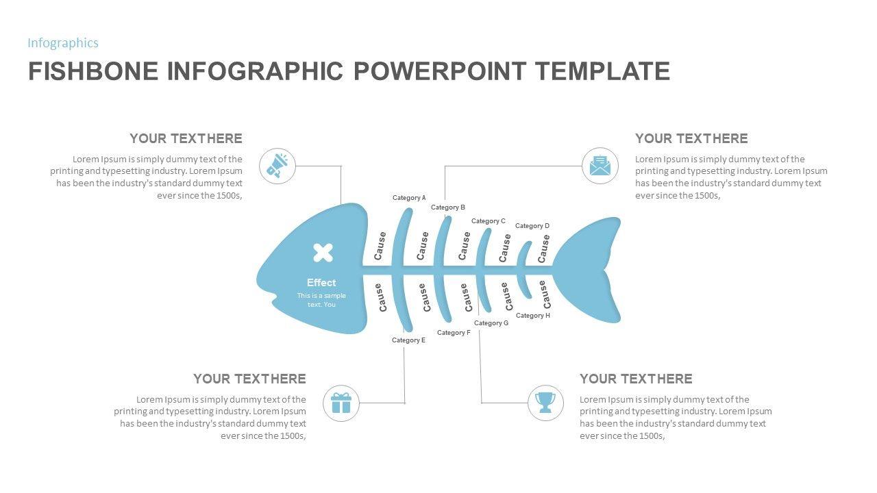 Fishbone Diagram Powerpoint Template In 2020 Powerpoint