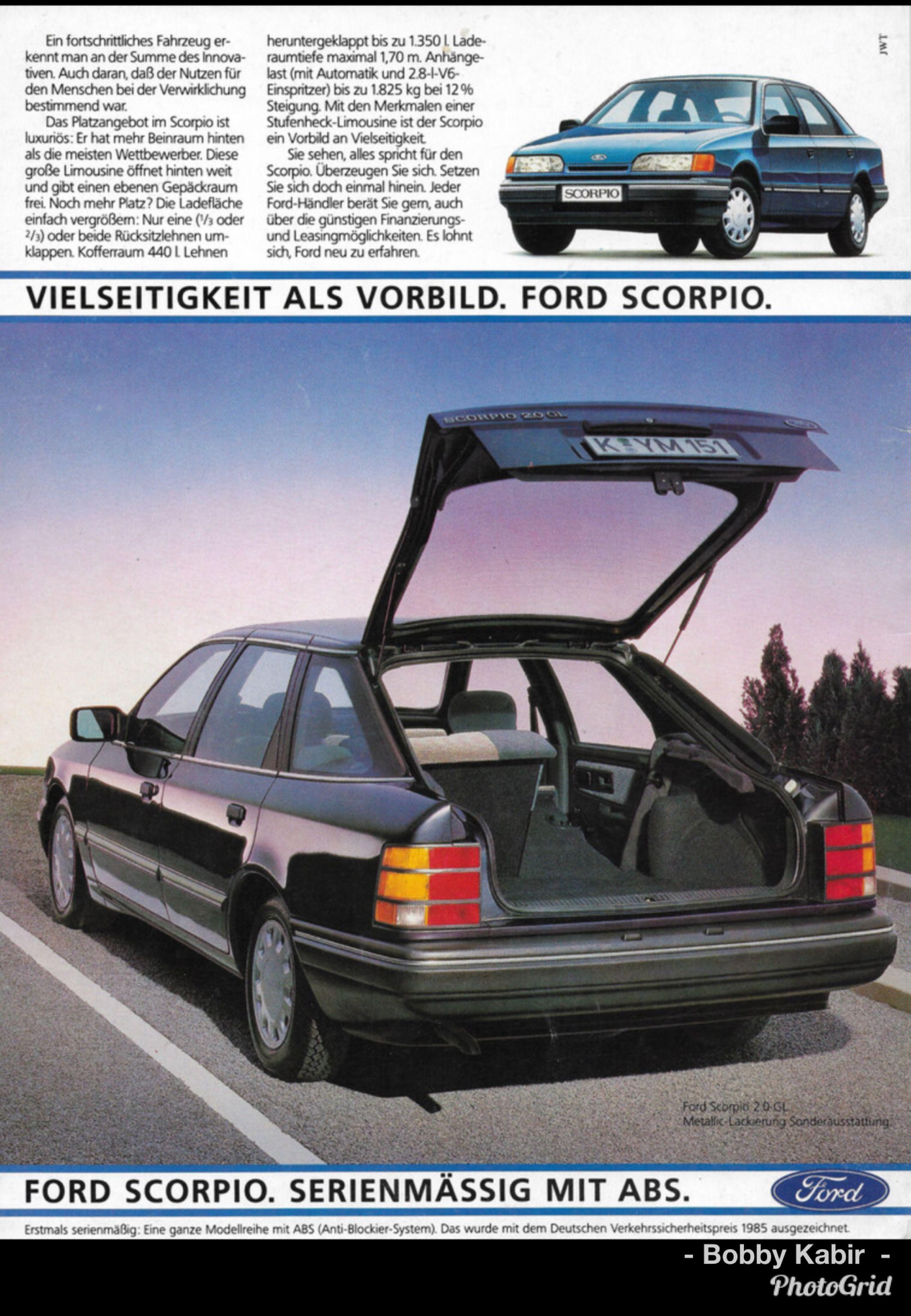 1986 Ford Scorpio 2 0 Gl Germany By Michael On Flickr Limousine Auto Bild Autobilder