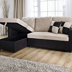 Rio L Shape Sofa With Pull Out Sofa Bed In Brown And Beige Quality Sofa Bed Pull Out Sofa Bed Corner Sofa