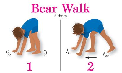 children know how to walk and physical activities