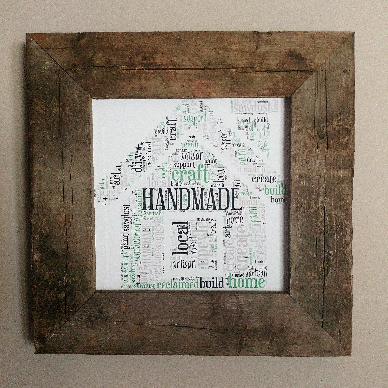 Handmade/DIY\'er themed word art available in print, framed, or ...