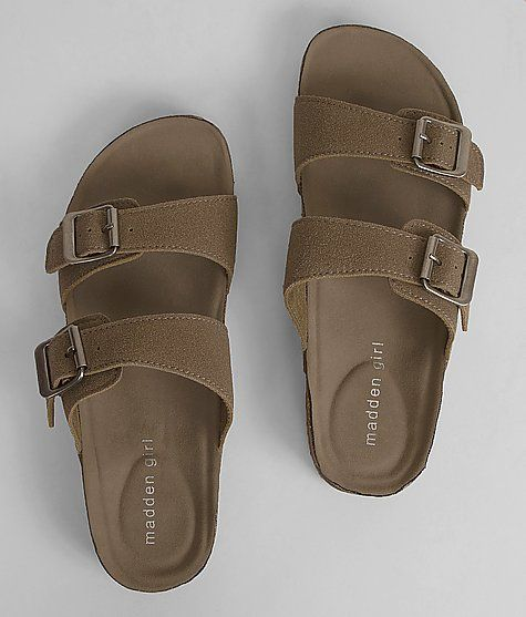 d8c4b04a491 Most comfortable shoe I ve ever tried on. Madden Girl Brando Sandal in  taupe. size 6. Macys.com for  49