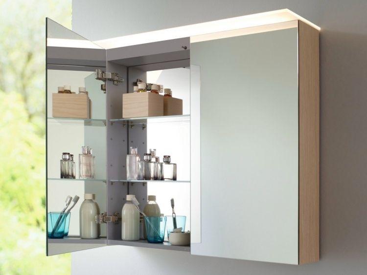 Miroir Salle De Bain Lumineux En 55 Designs Super Modernes Armoires De Rangement Salle De Bains Salle De Bain Armoire De Toilette Avec Miroir