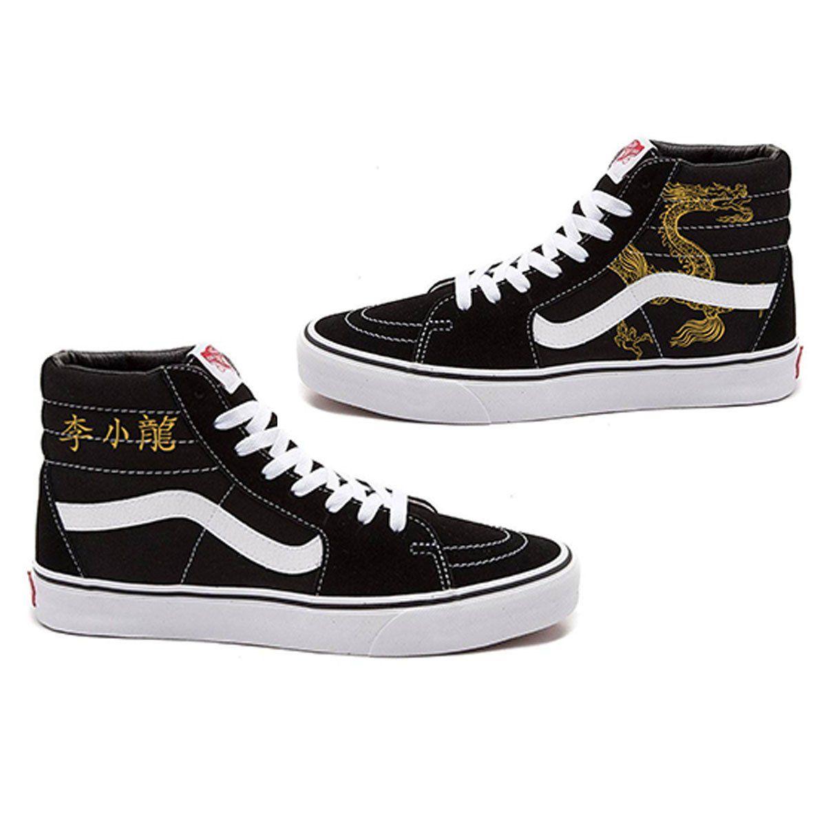 Lee Little Dragon Vans Slip-On Sneakers