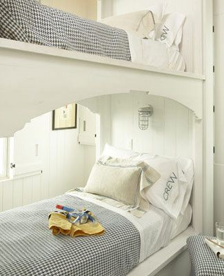 bunk beds made for a captain and his first mate