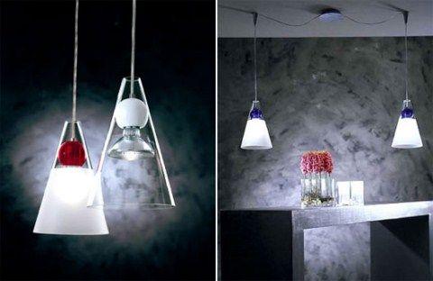Lámparas en suspensión para la cocina y el comedor decoracion 2015