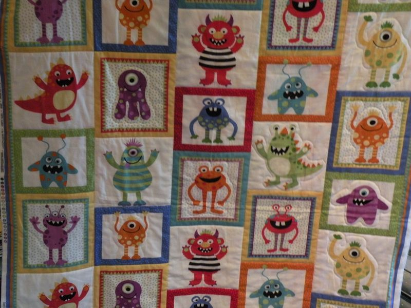 Monster Applique Quilt Pattern Pots And Pins Creativity Quilts