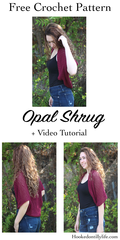 011f80d156cc free crochet pattern opal shrug mesh stitch easy beginner friendly hooked  on tilly video tutorial cardigan sweater crochet lion brand yarn zz twist  spring ...