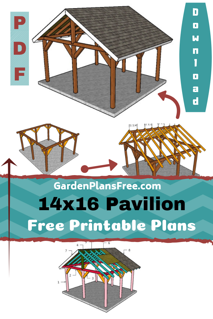 14 16 Outdoor Pavilion Plans Free Pdf Download Backyard Pavilion Outdoor Pavilion Pavilion Plans