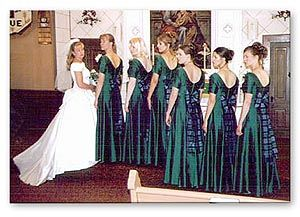 tartan bridesmaid dresses