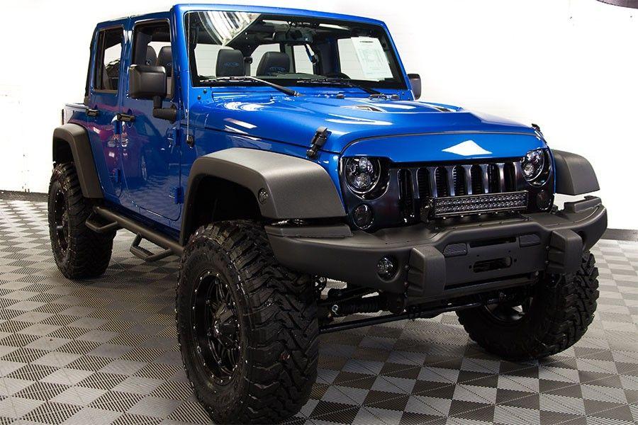 2016 Jeep Wrangler Sport Unlimited Hydro Blue Jeep