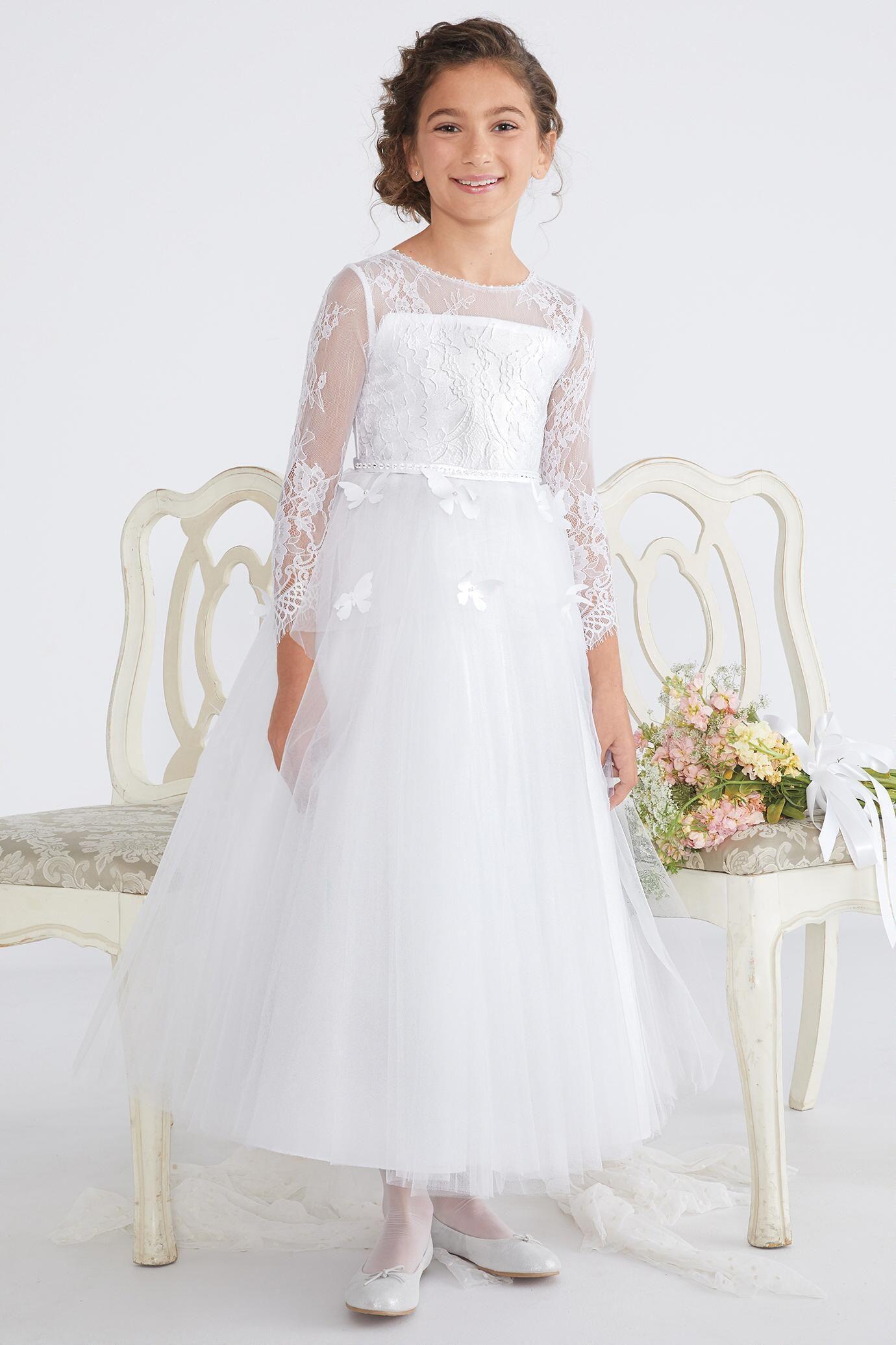 Girls Cloud Of Butterflies Dress Butterfly Dress White Butterfly Dress Dresses [ 2070 x 1380 Pixel ]