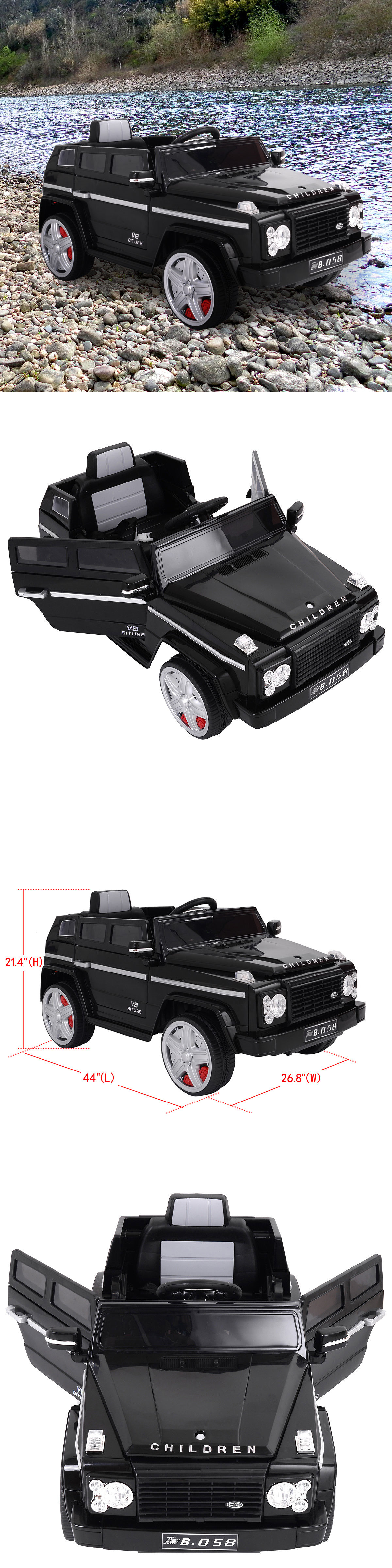 Toys car battery  Ride On Toys and Accessories  V Mp Kids Ride On Truck Car