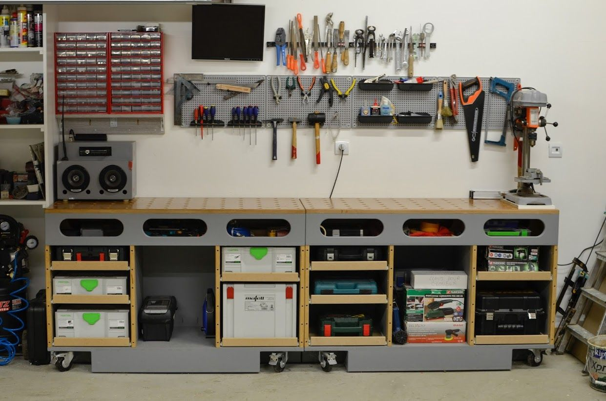 Table D Assemblage Porte Systainer Diy Termine Page 7 Rangement Garage Rangement Etabli Rangement Atelier