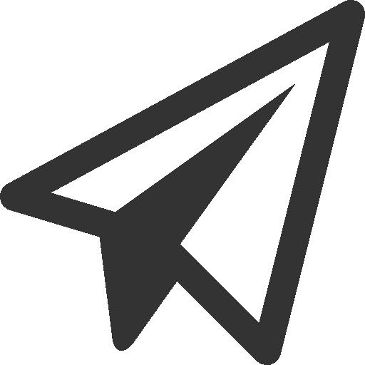 Black Shape Paper Plane Png Image Paper Plane Plane Icon Paper