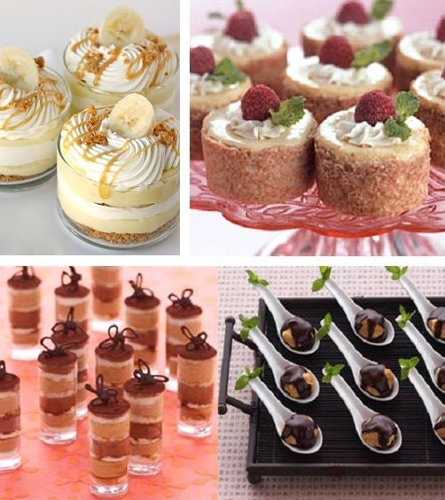 Small Desserts For Weddings: Mini Desserts At Wedding - Google Search
