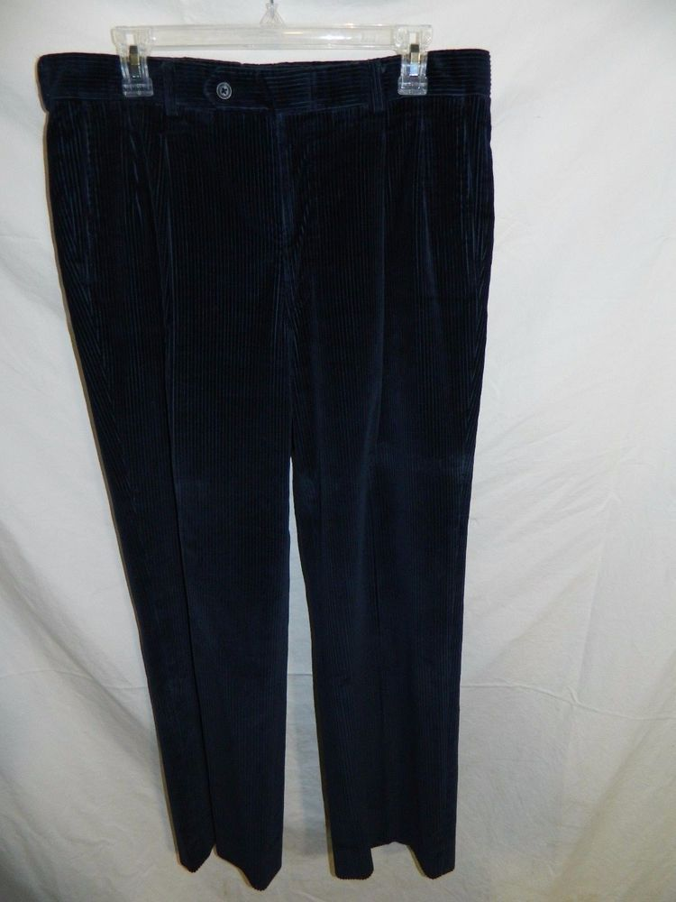 SAKS FIFTH AVENUE Blue Relaxed Corduroy Pants Size 34  INV#0306 #SaksFifthAvenue #Corduroys