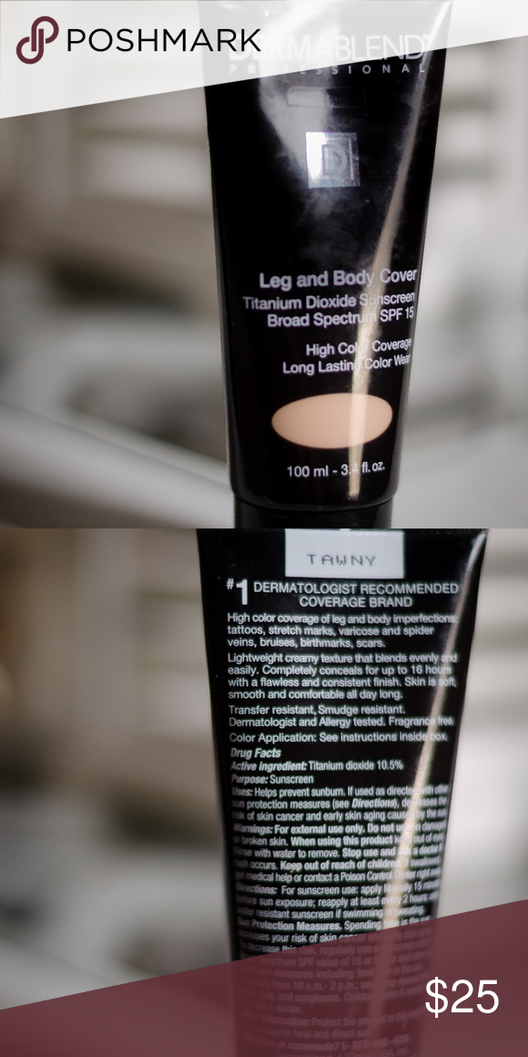 Dermablend Leg & Body Cover Shade Tawny (With images