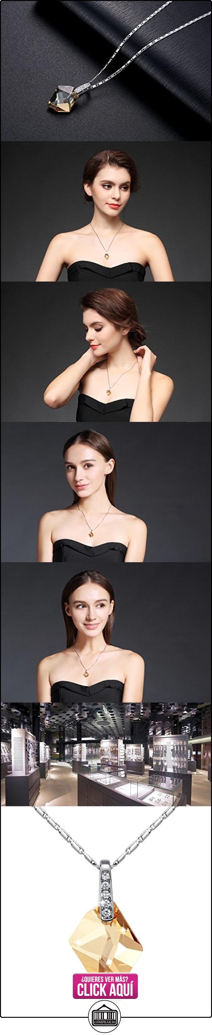 GoSparking del oro de Champán Cristal oro blanco 18K plateó el collar pendiente de la aleación con el cristal austríaco para las mujeres  ✿ Joyas para mujer - Las mejores ofertas ✿ ▬► Ver oferta: https://comprar.io/goto/B00C8T2JNW