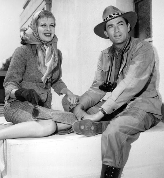 Gregory Peck and Hildegard Knef on set of - The Snows of Kilimanjaro |  Gregory peck, Classic hollywood, Atticus finch